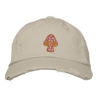 Casquette Brodée La hippie fleurit le champignon