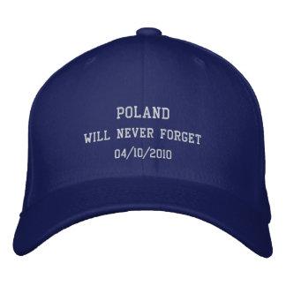 Casquette Brodée La Pologne n'oubliera jamais