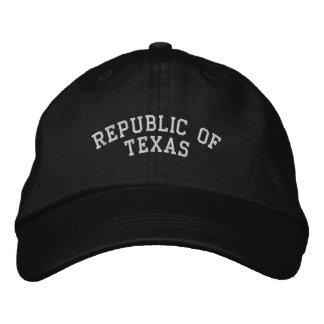 Casquette Brodée La République du Texas a brodé le noir réglable de