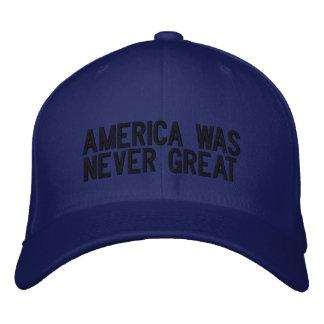 Casquette Brodée L'Amérique n'était jamais grande