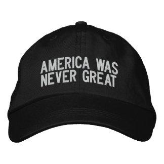 Casquette Brodée L'Amérique n'était jamais grande - noir