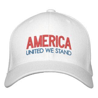 Casquette Brodée L'AMÉRIQUE : Uni nous nous tenons