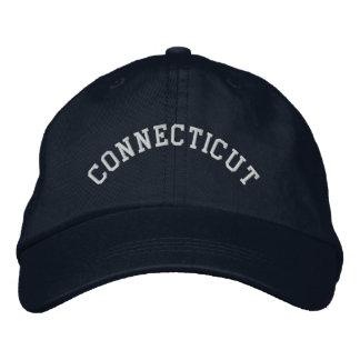 Casquette Brodée Le Connecticut a brodé le bleu marine de base de