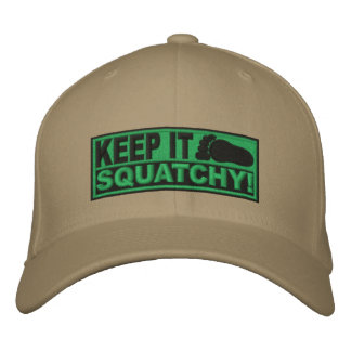 Casquette Brodée Le *EMBROIDERED* vert le gardent Squatchy ! - Bobo