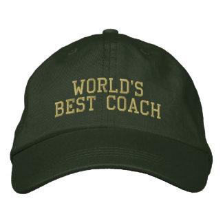 Casquette Brodée Le meilleur entraîneur du monde