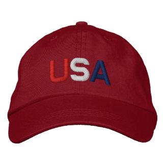 Casquette Brodée Les Etats-Unis Red Hat brodé par bleu blanc rouge