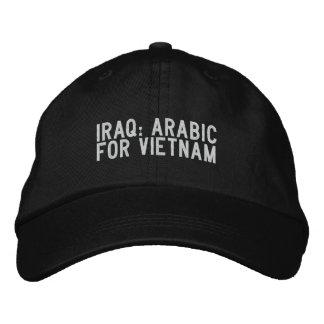 Casquette Brodée l'Irak : l'arabe pour le Vietnam