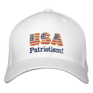 Casquette Brodée Logo W1 de patriotisme des Etats-Unis