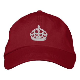 Casquette Brodée Maintenez calme et continuez la couronne