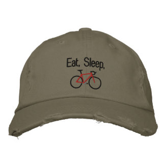 Casquette Brodée Mangez, dormez, faites du vélo