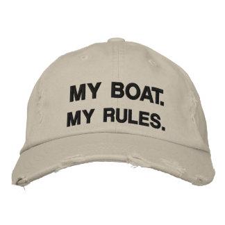 Casquette Brodée Mon bateau. Mes règles - canotage drôle