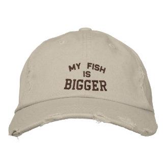 Casquette Brodée Mon poisson est, plus grand