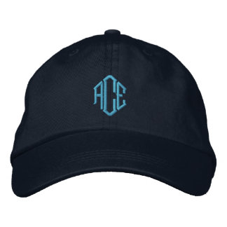 Casquette Brodée Monogramme bleu