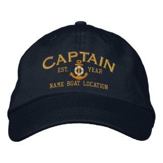 Casquette Brodée Personnalisez pour capitaine LifeSaver Anchor de
