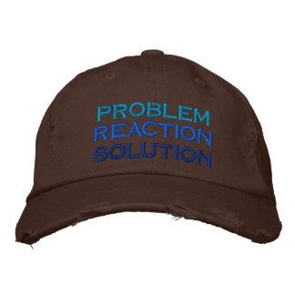 Casquette Brodée problème, réaction, solution