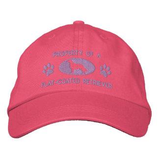 Casquette Brodée Propriété d'un chien d'arrêt Plat-Enduit