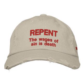 Casquette Brodée Repentissez-vous les salaires du péché est 6h23 de