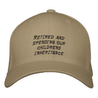 Casquette Brodée Retiré et dépensant l'héritage de nos enfants