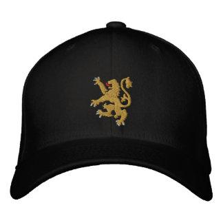Casquette Brodée Roi brodé par lion d'or des Rois Cap
