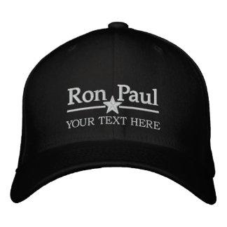 Casquette Brodée Ron Paul a personnalisé le texte