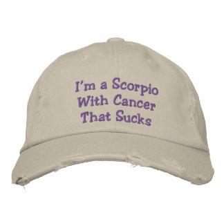 Casquette Brodée Scorpion avec le Cancer qui suce, chapeau affligé