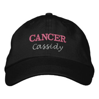 Casquette Brodée Signe de Madame Cancer Zodiac Pink Star