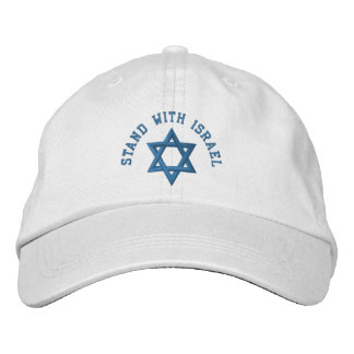 Casquette Brodée Support de l'étoile de David I avec l'Israël