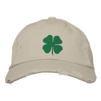 Casquette Brodée Trèfle brodé de feuille de l'Irlandais quatre