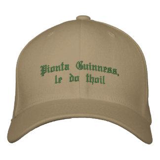 Casquette Brodée Une pinte de Guinness, svp (en gaélique)