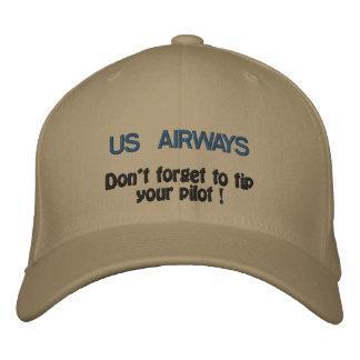 Casquette Brodée US AIRWAYS, n'oublient pas d'incliner votre pilote