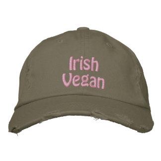 Casquette Brodée Végétalien irlandais, le jour de St Patrick, vert