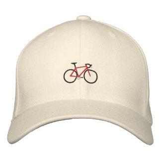 Casquette Brodée Vélo rouge de route