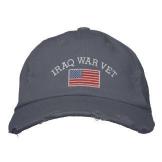 Casquette Brodée Vétérinaire de guerre d'Irak avec le drapeau