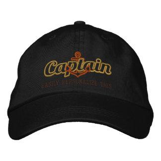Casquette Brodée Votre broderie nautique nommée de capitaine de la