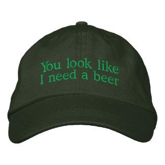 Casquette Brodée Vous regardez comme j'ai besoin d'une bière