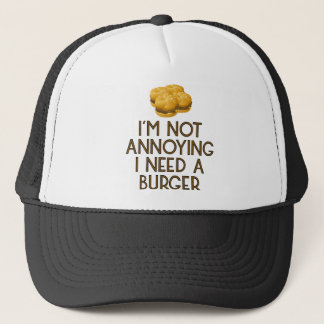 Casquette Burger restauration rapide BBQ Barbecue affamé
