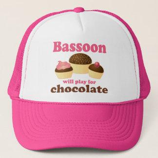 Casquette Cadeau de musique de basson de chocolat