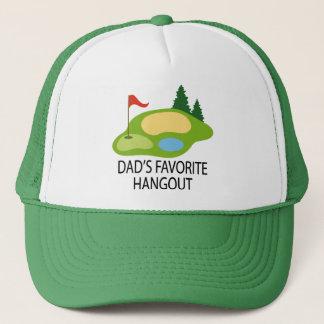 Casquette Cadeau du repaire du papa jouant au golf drôle de