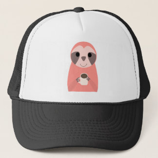 Casquette Café potable de paresse rose