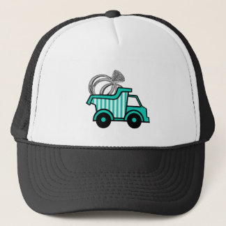 Casquette Camion à benne basculante de porteur d'alliances