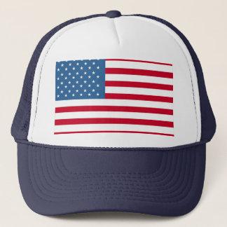Casquette camionneur d'américain-drapeau