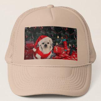 Casquette Caniche père Noël - chien de Noël - chien du père