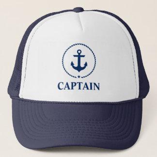 Casquette Capitaine nautique Anchor Rope Blue