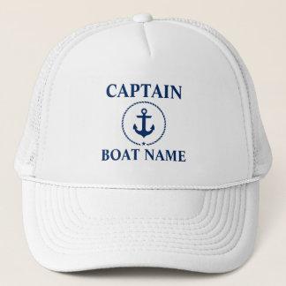 Casquette Capitaine nautique Boat Name Anchor Rope