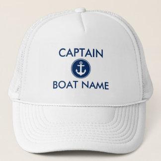 Casquette Capitaine nautique de nom de bateau d'ancre de