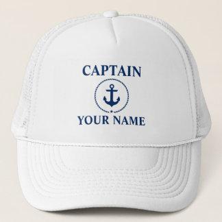 Casquette Capitaine nautique Name Anchor Rope