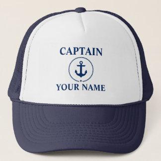 Casquette Capitaine nautique Name Anchor Rope Blue