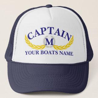 Casquette Capitaines de motif d'ancre de nom de bateau de