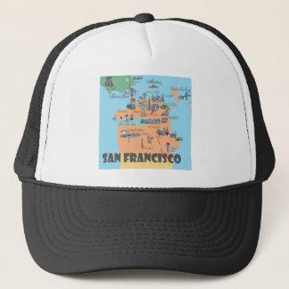Casquette Carte de San Francisco la Californie
