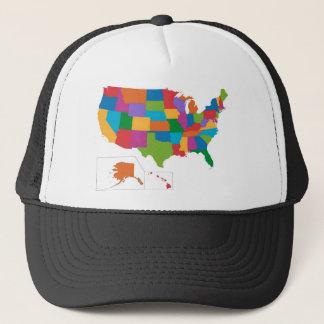 Casquette Carte des Etats-Unis
